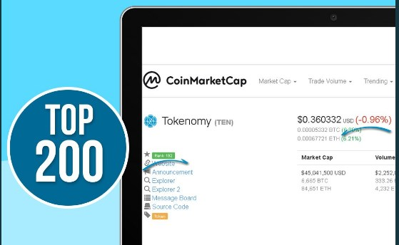 tokenomy top 200