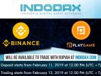 indodax akan listing bnb dan pxg