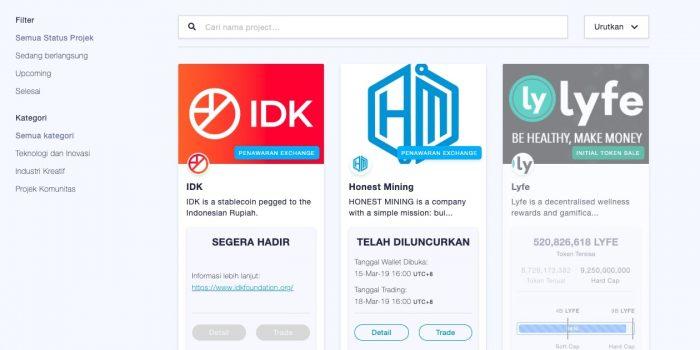 IDK stabil coin berbasis Rupiah di Tokenomy